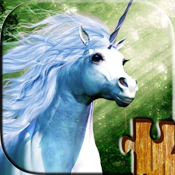 Unicorn puzzles - Relaxing fantasy photo picture jigsaw puzzles for kids and adults