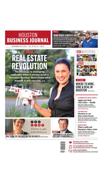 Houston Business Journal review screenshots
