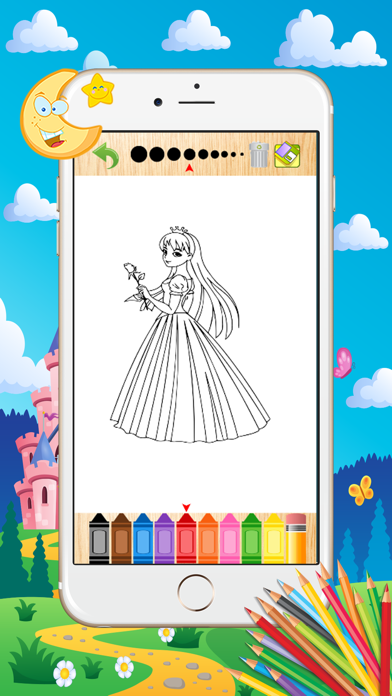 Princess Coloring Book - Paint Learning For Kids screenshot four