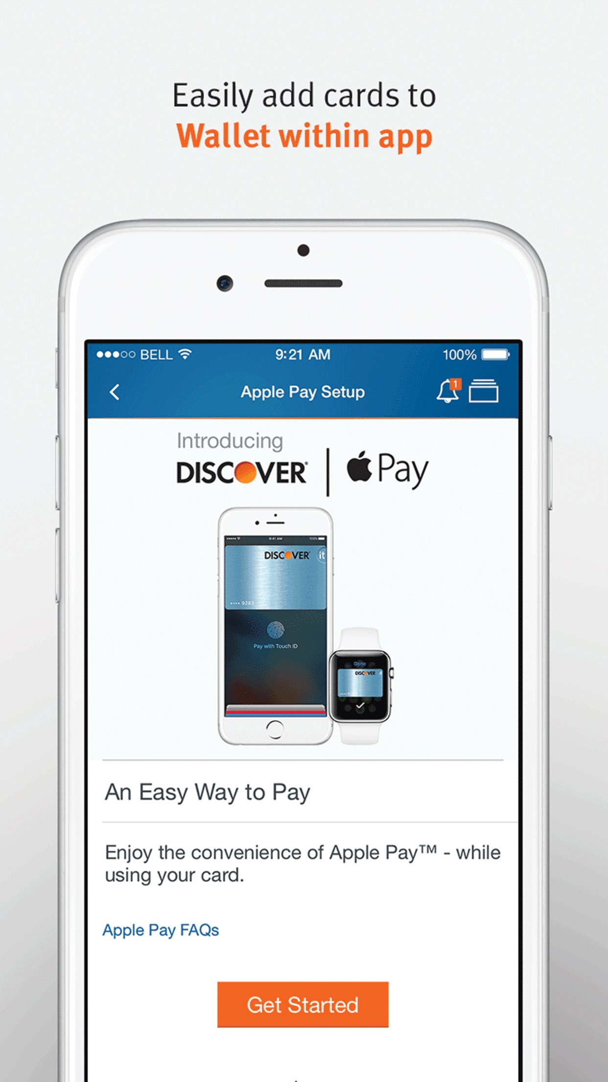 Discover – Mobile Banking and Finance Screenshot