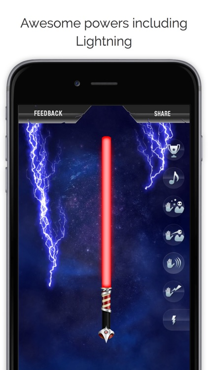 Crystal Saber of Light - The ultimate light saber experience in your pocket screenshot-0