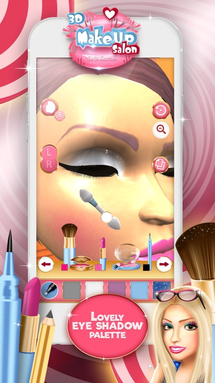 3D Make.Up Salon Girls Game.s: Fashion Dress.up Stylist and Beauty Model Make.over