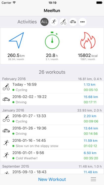 MeeRun Sports Tracker