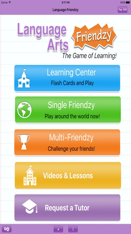 Language Arts Friendzy – K-8 Grade Reading Games screenshot-0