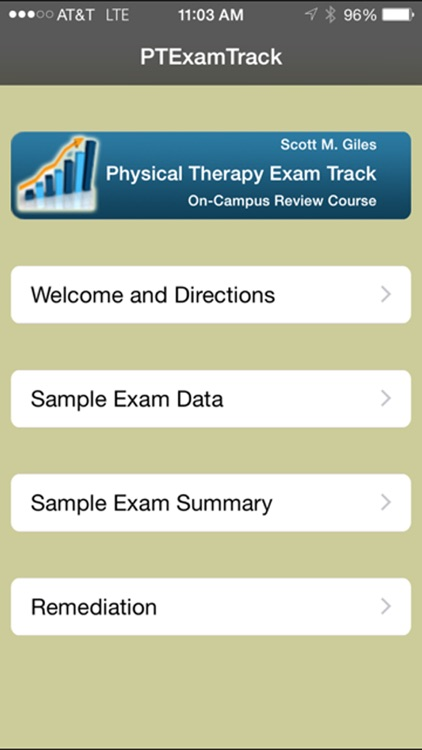 Physical Therapy Exam Track