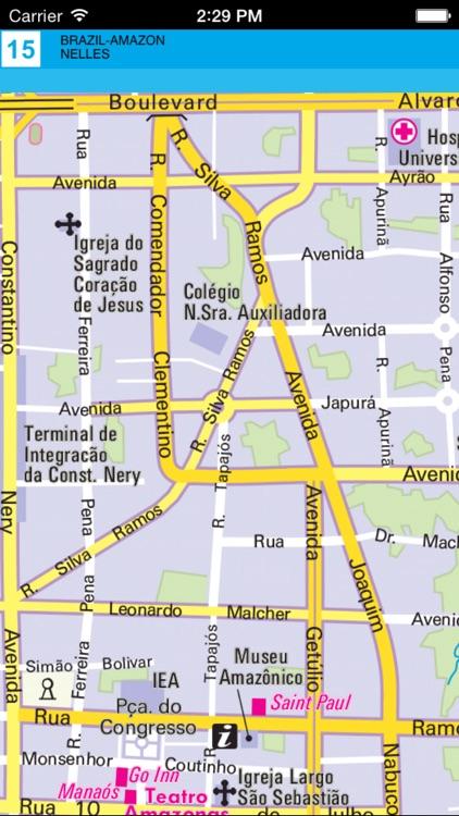 Brazil (Amazon). Tourist map. screenshot-4