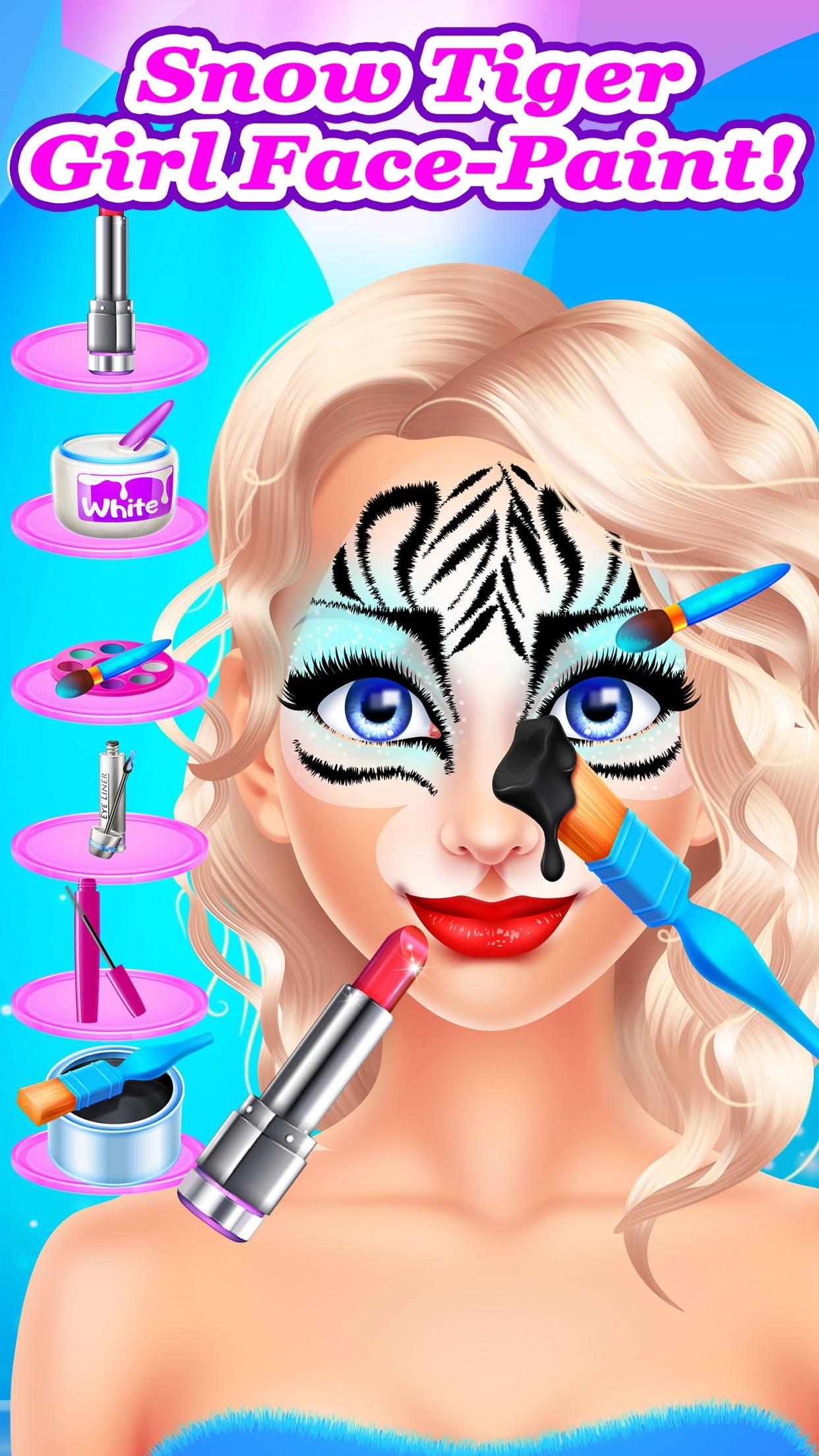 Frozen Face Paint Party - Kids Christmas Games Spa Screenshot