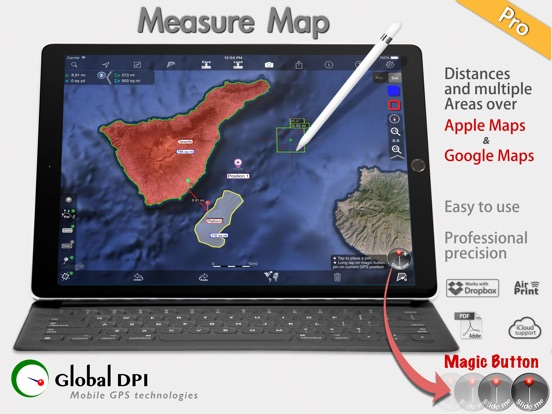 Measure Map Pro. By Global DPI Screenshots