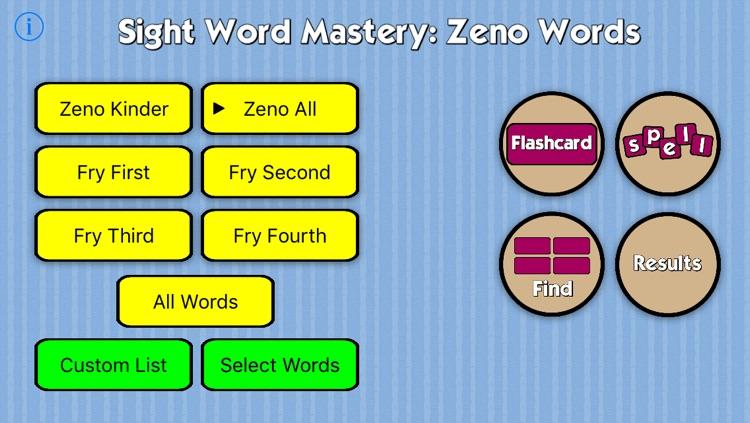 Sight Word Mastery: Zeno Words