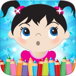 Little Girls Coloring World Drawing Story Kids Game