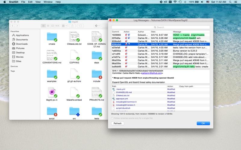 SnailGit Lite: Git Client with Finder Integration for Mac