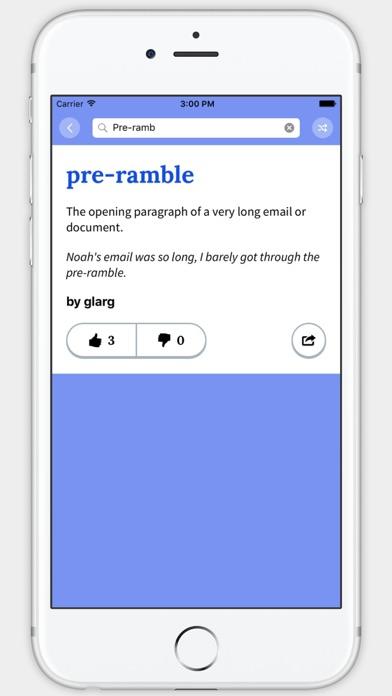 Screenshot 3 for Urban Dictionary's iPhone app'