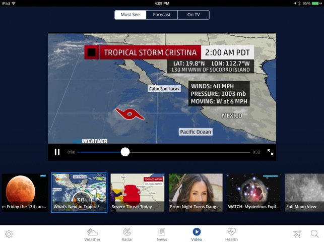The Weather Channel App for iPad best local forecast radar map