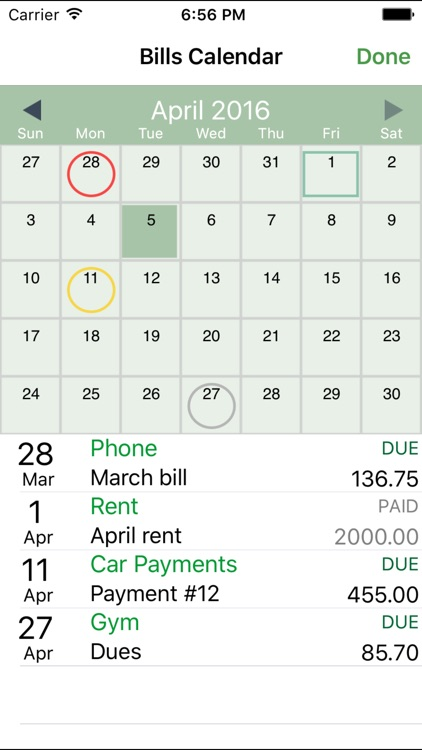 iCheckBalance: Checkbook & Bills Tracker screenshot-4