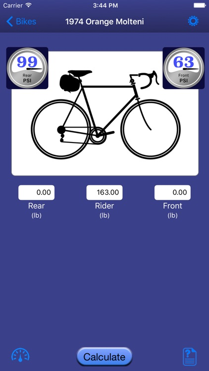 Bicycle Tire Pressure Calculator screenshot-1