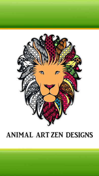 Animal Art Zen Designs - Anxiety Reliever Adult Coloring