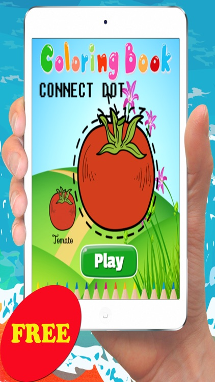 Vegetable & Fruit Coloring Book - Drawing and Painting Connect dots Education Game Free For Kids
