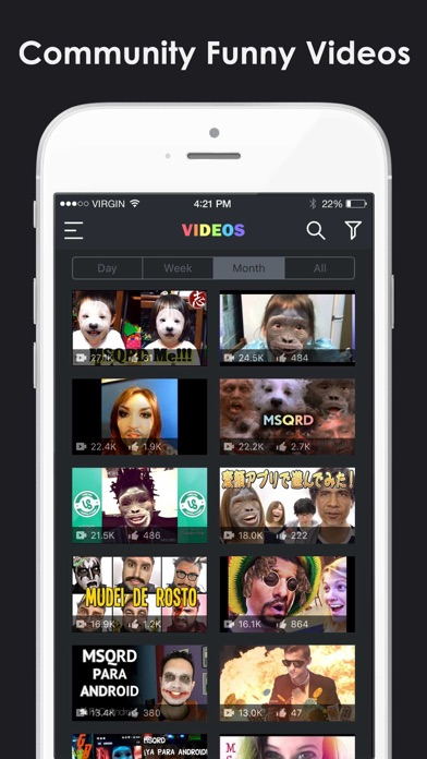 Video Selfies for MSQRD.me - Watch Animated Masks & Face Swap Videos screenshot two