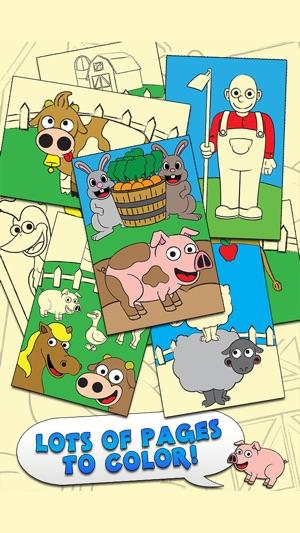 Coloring Farm Animal Coloring Book For Kids Games Screenshot