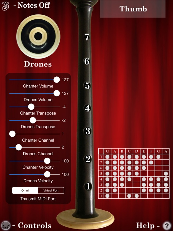 MIDI Bagpipes Chanter screenshot-1