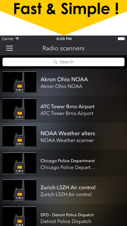 Police radio scanners plus The best online public safety scanner feed screenshot-3