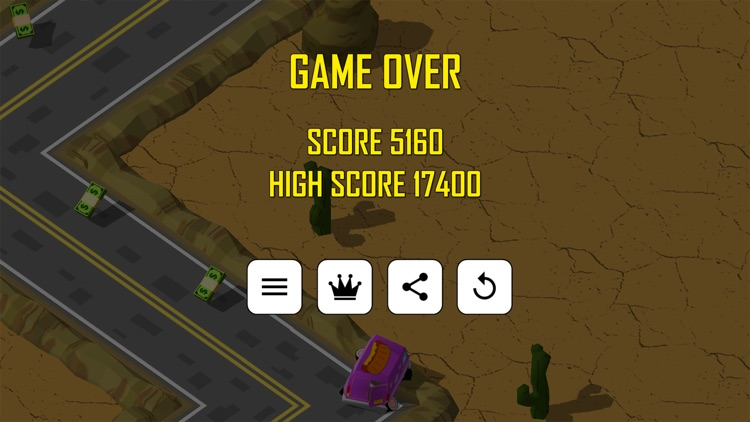 Zig Zag Car Runner screenshot-3