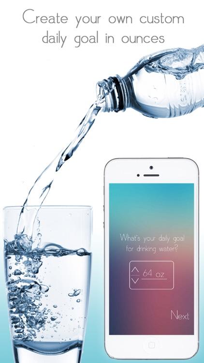Water Tracker - Daily hydration tracker, intake counter, water logger, daily water tracker and water reminder screenshot-4