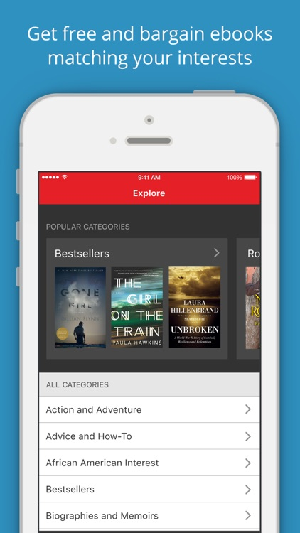 BookBub - Great Deals on Bestselling Ebooks screenshot-1