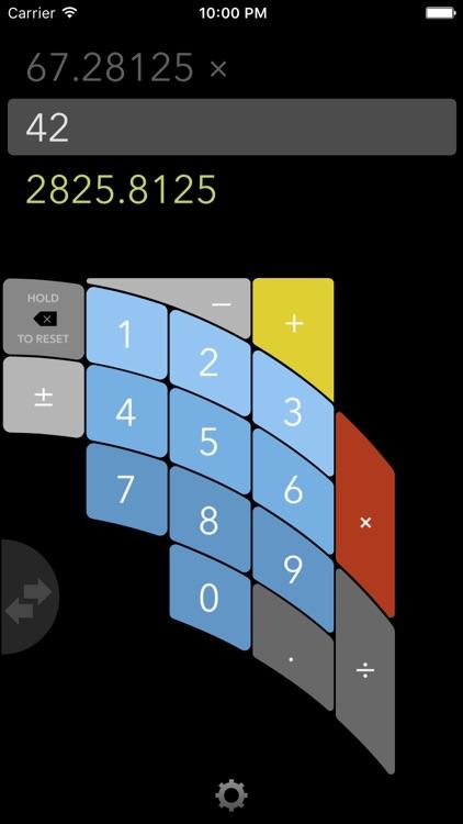FutureCalc: ergonomic calculator for single-handed use screenshot-3