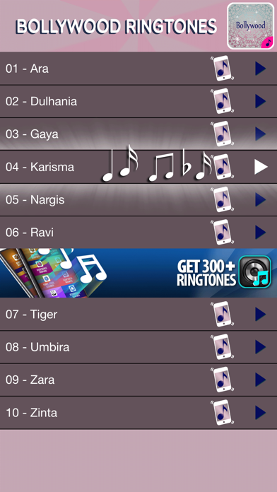 Bollywood Music Ringtones Pro – Collection of Best Hindi