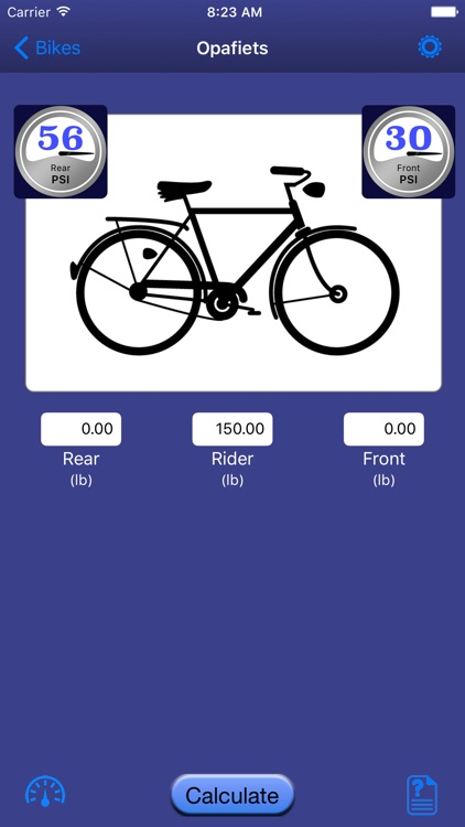 Bicycle Tire Pressure Calculator screenshot-2