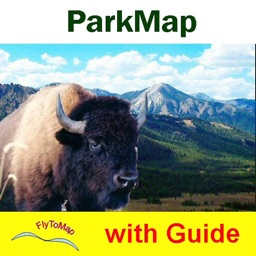 Badlands National Park gps and outdoor map with Guide