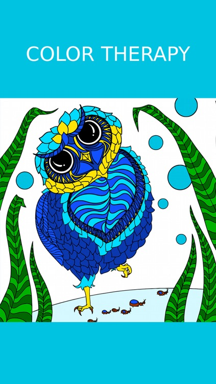 Owl Coloring Book For Adults: Free Fun Adult Coloring Pages - Relaxation Anxiety Stress Relief Color Therapy Games screenshot-4