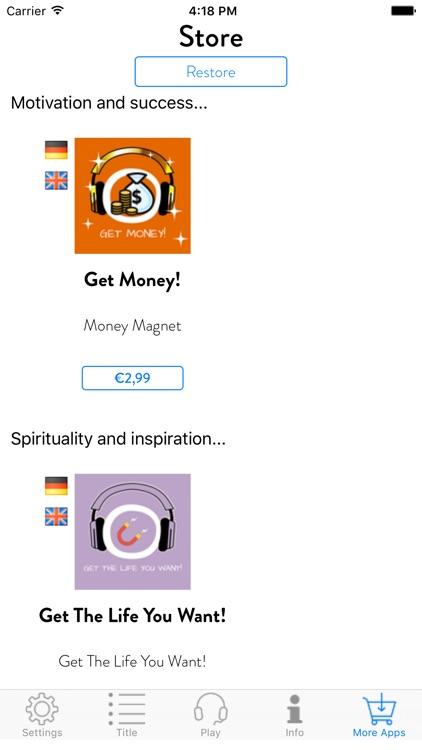 Get Rich! Reichtum, Wohlstand und Fülle manifestieren mit Hypnose screenshot-4