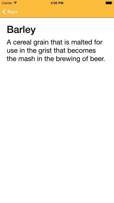 Beer Glossary A-Z screenshot four