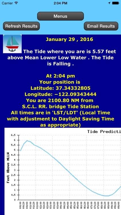 West Coast Tides Hi-Low by Date and Location screenshot-3