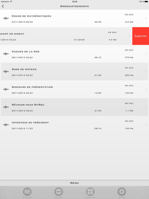 Screenshot #6 pour My Rec - Enregistreur Audio
