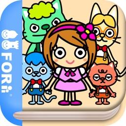 Oops...Kitty Cat (FREE)   - Jajajajan Kids Song & Coloring picture book series