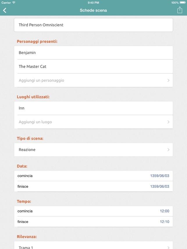 Story Planner per Scrittori Screenshot