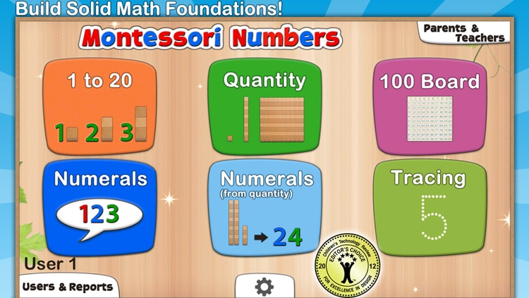 Montessori Numbers - Learn to Count from 1 to 1000 & Other Math Activities screenshot-0