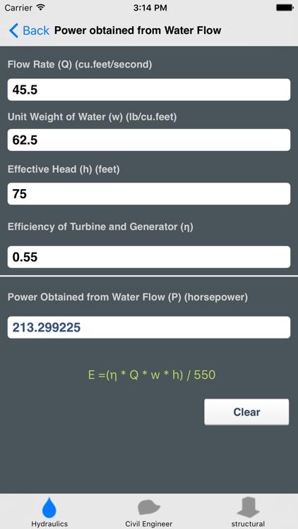 Hydraulics and Waterworks Calc. screenshot-4