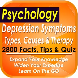 Depression symptomes, causes & therapy: 2800 Notes & Quizzes