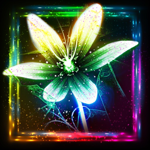 Glowing Flower S Wallpaper Cool Neon Themes And Floral