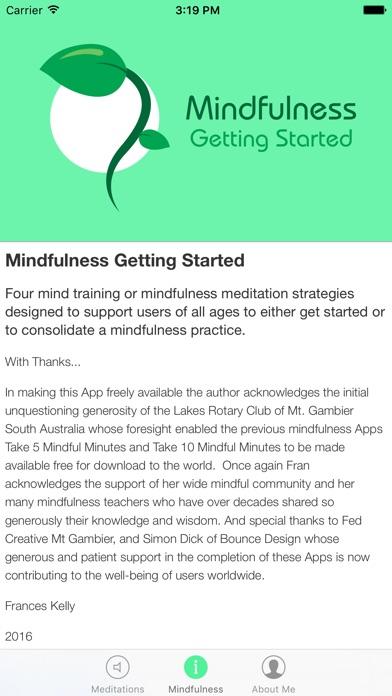 Mindfulness Getting Started screenshot three