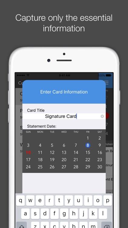 Card Due - Credit Card Bill Tracker screenshot-3