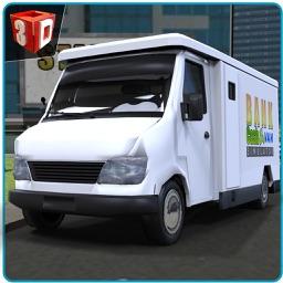 Bank Cash Van Simulator - Transport dollars in money truck simulation game