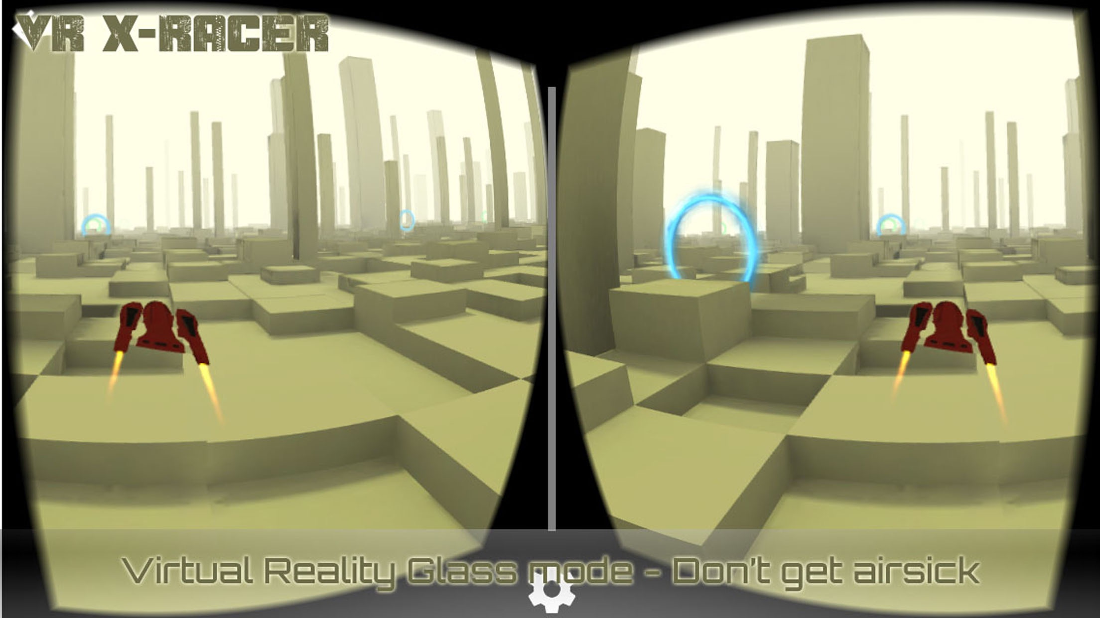 VR XRacer: virtual reality space racing vr games Screenshot