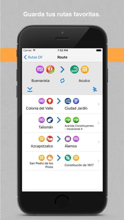 Rutas DF Metro, Metrobús, Tren Ligero, Suburbano, Mexibús, Trolebús y Ecobús de la Ciudad y Estado de México screenshot-4