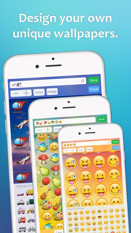 Emoji Wallpaper – design HD wallpapers with emojis by James Arnold