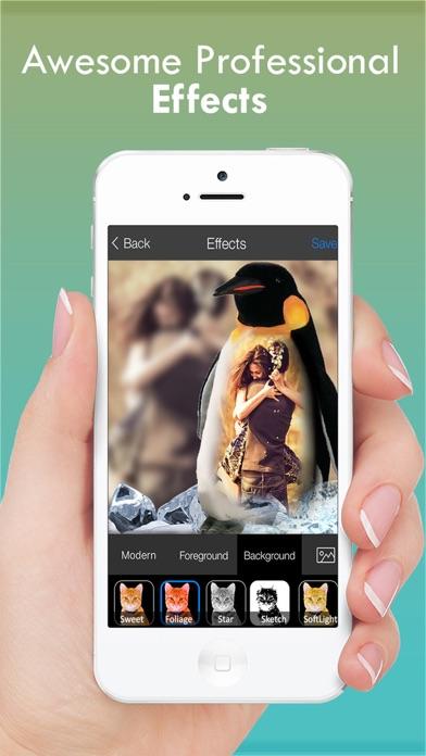 Schönheit der Brute-Kamera - Free Photo Collage Maker mit besonderen wilden Rahmen für InstagramScreenshot von 2